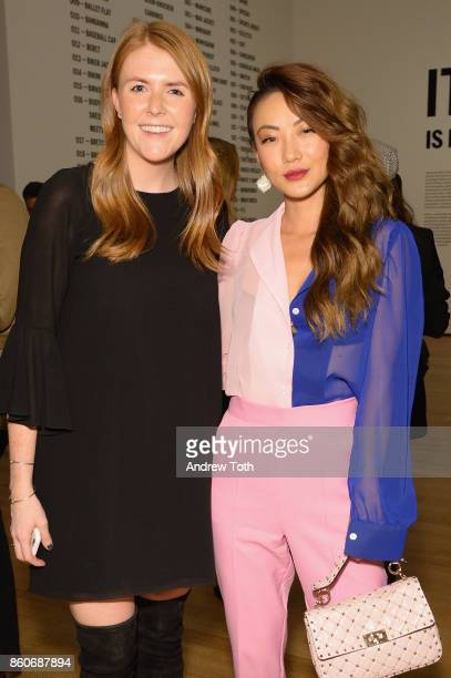 Kate Bernie and Jessica Wang attend as Harper's BAZAAR and THE OUTNETCOM Celebrate the opening of MoMA's Fashion Exhibit 'Is Fashion Modern' at MOMA...