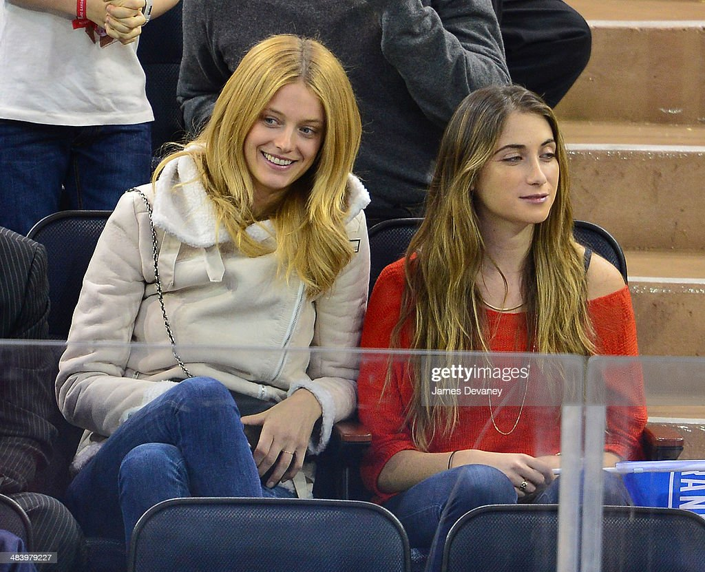 Kate Bock and guest attend Buffalo Sabres vs New York Rangers game at Madison Square Garden on April 10, 2014 in New York City.