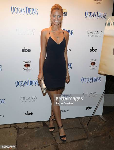 Kate Bock attends the Ocean Drive Magazine Celebration of their annual swimsuit doubleissue at Delano South Beach on July 21 2017 in Miami Beach...
