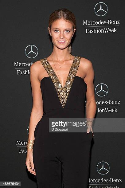 Kate Bock is seen during MercedesBenz Fashion Week Fall 2015 at Lincoln Center for the Performing Arts on February 17 2015 in New York City