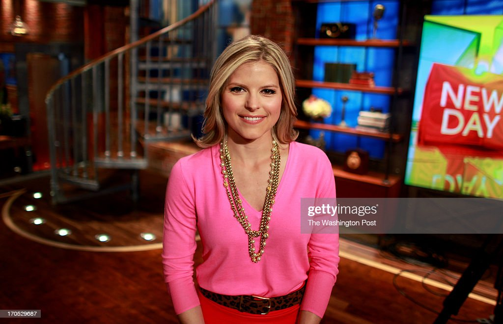 Kate Bolduan, co-host of CNN's new morning show 'New Day,' poses for a portrait on its set inside the Time Warner Center in Manhattan, NY, on June 13, 2013. 229427