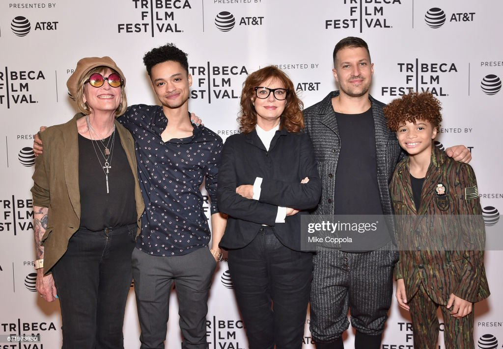 Kate Bornstein, Marquis Rodriguez, Susan Sarandon, Damon Cardasis, and Jaylin Fletcher attend the 'Saturday Church' Premiere during the 2017 Tribeca Film Festival at Cinepolis Chelsea on April 23, 2017 in New York City.