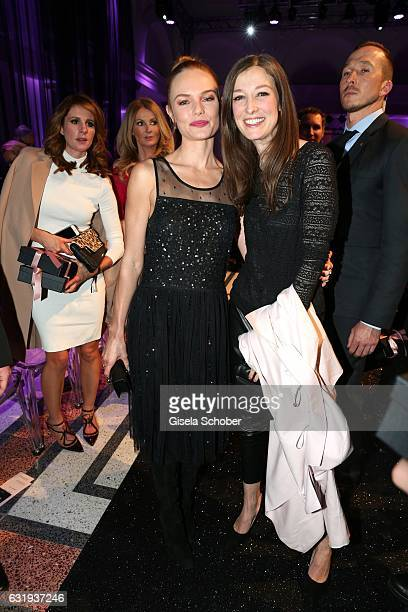 Kate Bosworth and Alexandra Maria Lara during the Marc Cain fashion show fall/winter 2017 VIP Cocktail 'Ballet magnifique' at 'Telekom...