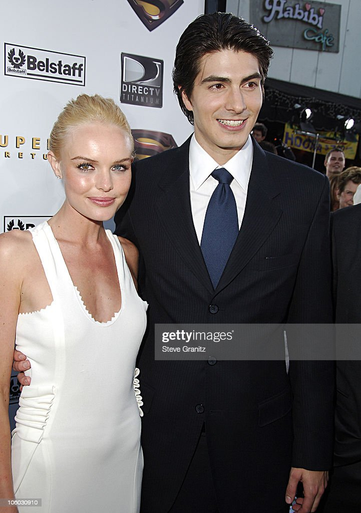 Kate Bosworth and Brandon Routh during World Premiere of 'Superman Returns' Arrivals at Mann's Village and Bruin Theaters in Westwood California...