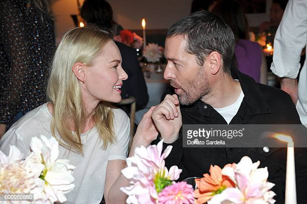 Kate Bosworth and Michael Polish attend to celebrate fall with UGG hosted by Rosie HuntingtonWhiteley at Little Beach House on September 8 2016 in...
