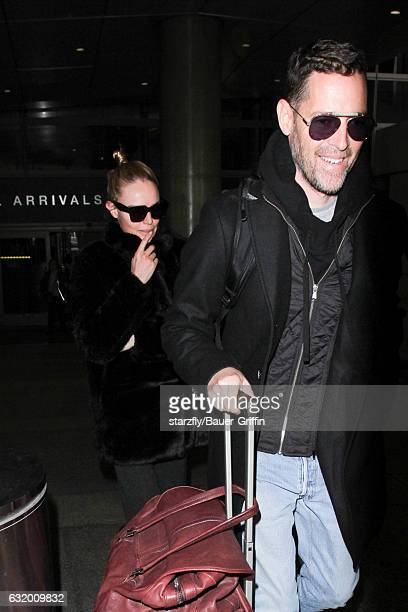 Kate Bosworth and Michael Polish seen at LAX on January 18 2017 in Los Angeles California