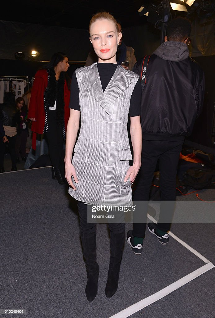 <a gi-track='captionPersonalityLinkClicked' href=/galleries/search?phrase=Kate+Bosworth&family=editorial&specificpeople=201616 ng-click='$event.stopPropagation()'>Kate Bosworth</a> attends the Noon By Noor Fall 2016 fashion show during New York Fashion Week: The Shows at The Dock, Skylight at Moynihan Station on February 14, 2016 in New York City.