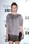 Kate Bosworth attends the Topshop Unique Autumn/ Winter 2013 catwalk show at the Topshop Show Space on February 17 2013 in London England