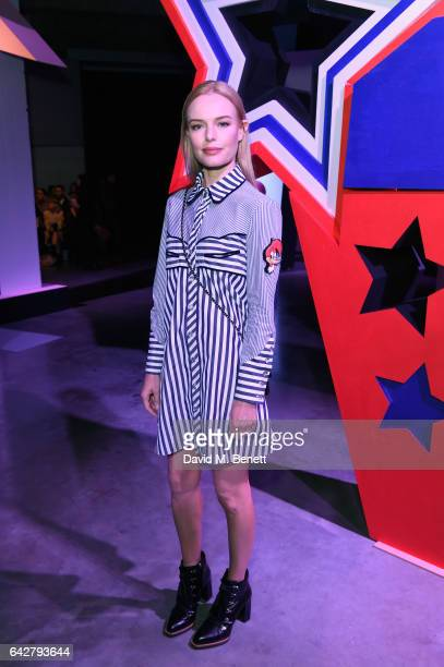 Kate Bosworth attends the Woody Woodpecker x House of Holland AW17 show at London Fashion Week at Tate Modern on February 18 2017 in London England