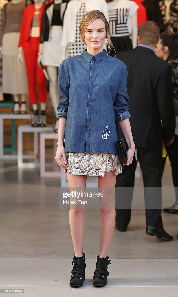 Kate Bosworth attends Topshop Topman LA Grand Opening at The Grove on February 14 2013 in Los Angeles California