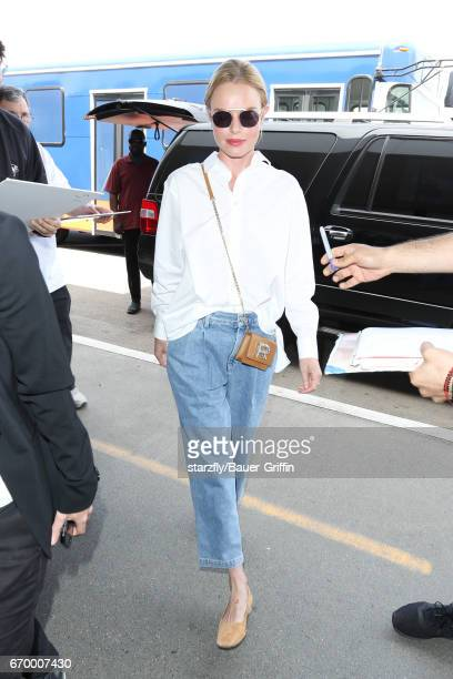 Kate Bosworth is seen at LAX on April 18 2017 in Los Angeles California