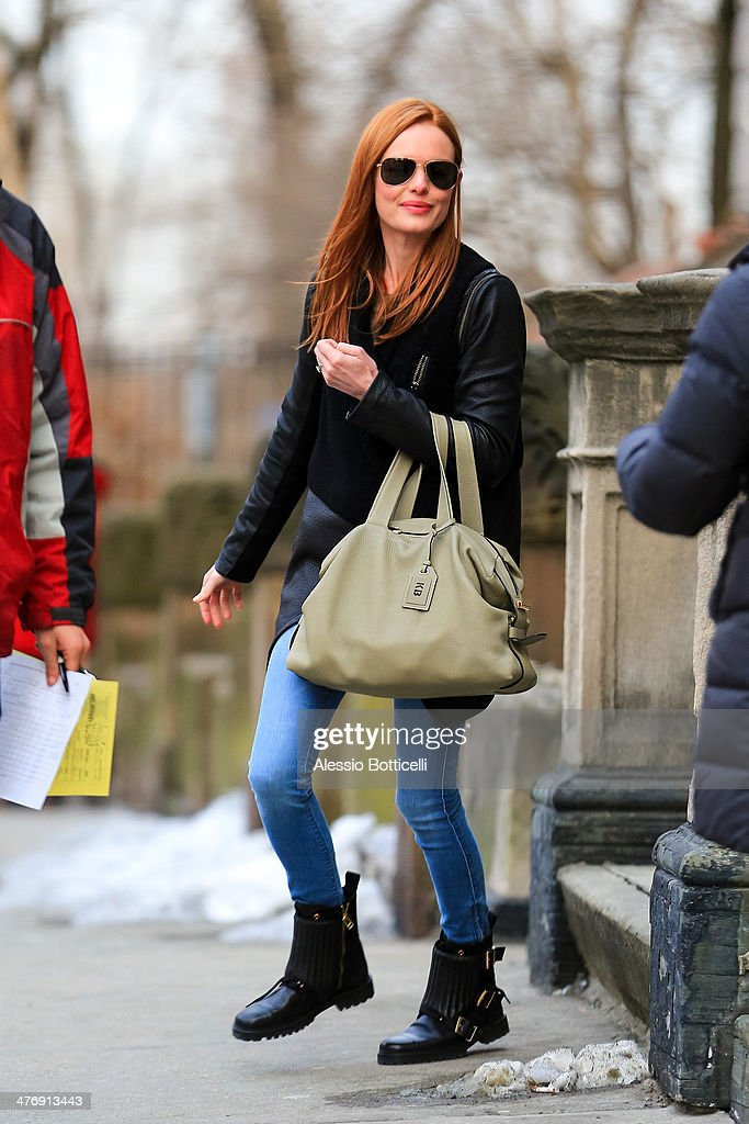 <a gi-track='captionPersonalityLinkClicked' href=/galleries/search?phrase=Kate+Bosworth&family=editorial&specificpeople=201616 ng-click='$event.stopPropagation()'>Kate Bosworth</a> leaving film set of 'Still Alice' on March 5, 2014 in New York City.