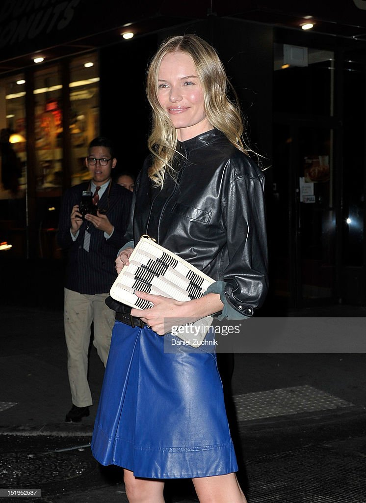 Kate Bosworth seen outside the Proenza Schouler show on September 12, 2012 in New York City.
