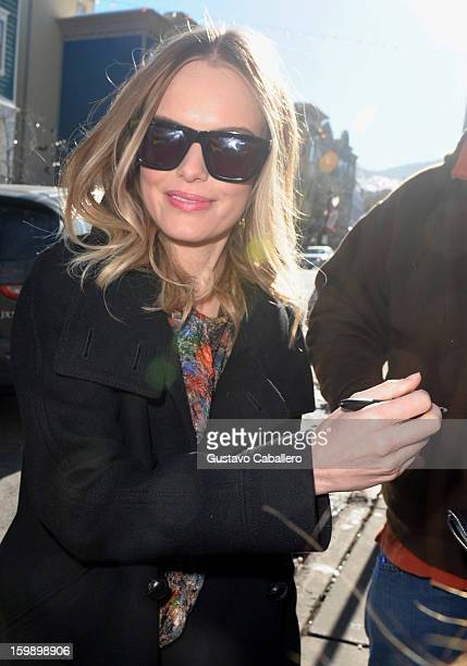 Kate Bosworth sighting on January 22 2013 in Park City Utah