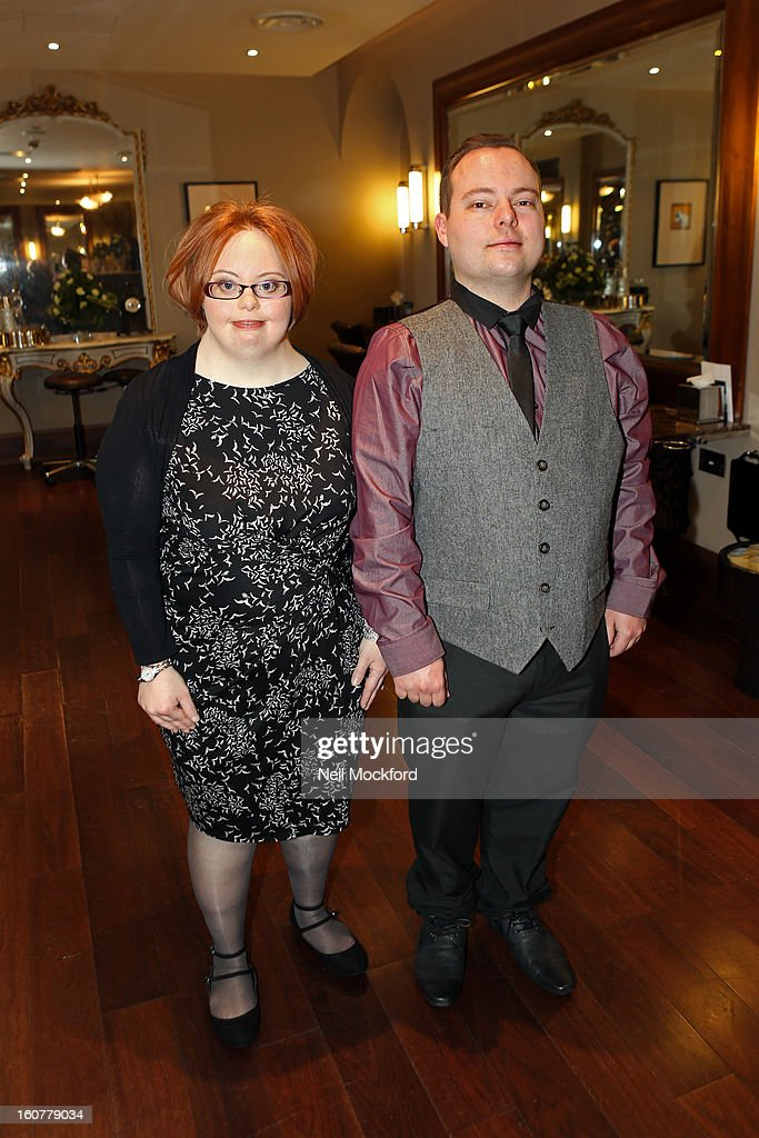 Kate Brackley and Simon Macgregor after their makeover at Nicky Clarke Hair Salon on February 5, 2013 in London, England.