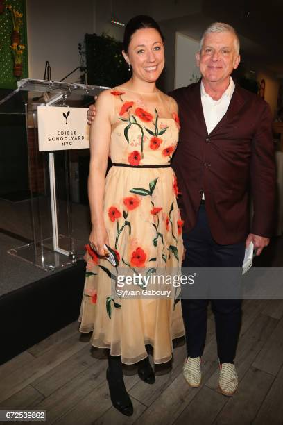 Kate Brashares and John Lyons attend Edible Schoolyard NYC 2017 Spring Benefit at Metropolitan West on April 24 2017 in New York City