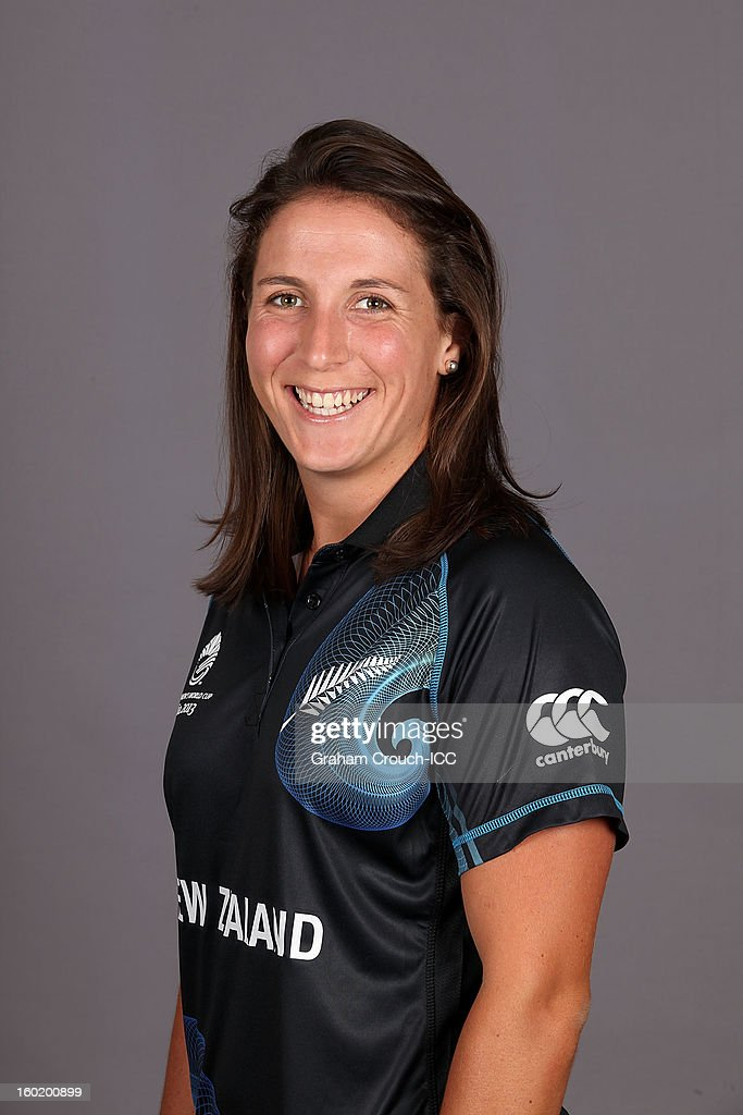 Kate Broadmore of New Zealand poses at a portrait session ahead of the ICC Womens World Cup 2013 at the Taj Mahal Palace Hotel on January 27, 2013 in Mumbai, India.