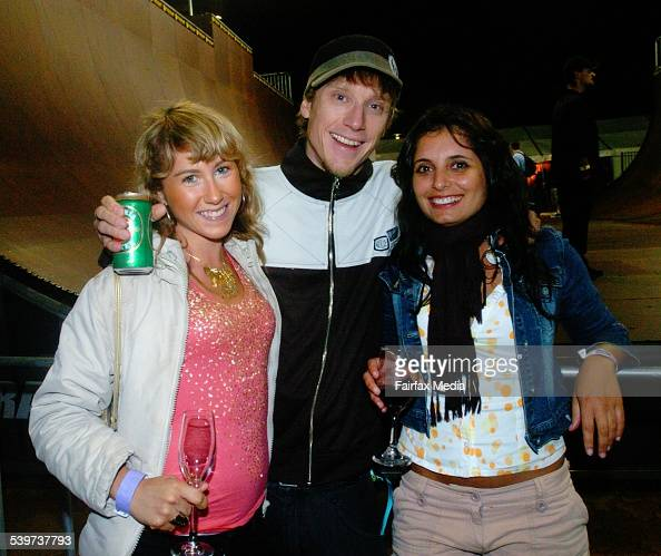 Kate Burns Ti Coleing And Eleni Berdoukas At The Monster Skate Park Launch Oly Pictures