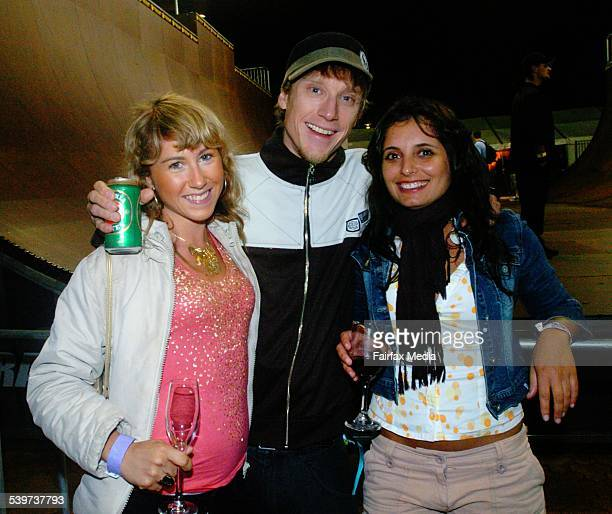 Kate Burns Ti Coleing And Eleni Berdoukas At The Monster Skate Park Launch Olympic Homebush