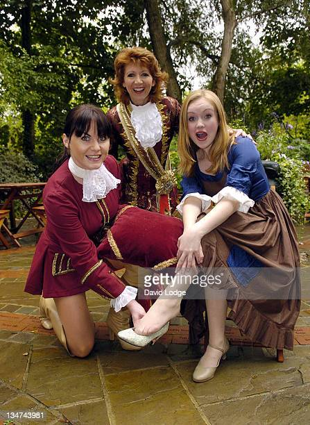 Kate Burrell and Bonnie Langford and Rachel Jerram