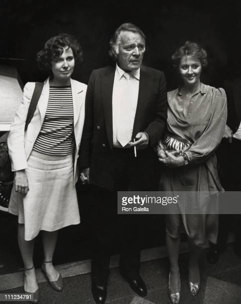 Kate Burton Richard Burton and Sally Hay during Dinner After a Performance of Noel Coward's 'Present Laughter' at Sardi's Restaurant in New York City...