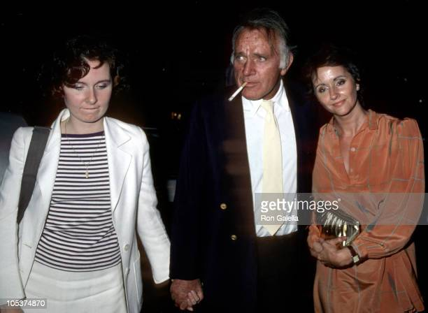 Kate Burton Richard Burton and Sally Hayes during After a Performance of 'Present Laughter' New York August 5 1982 at Pierre Hotel in New York City...