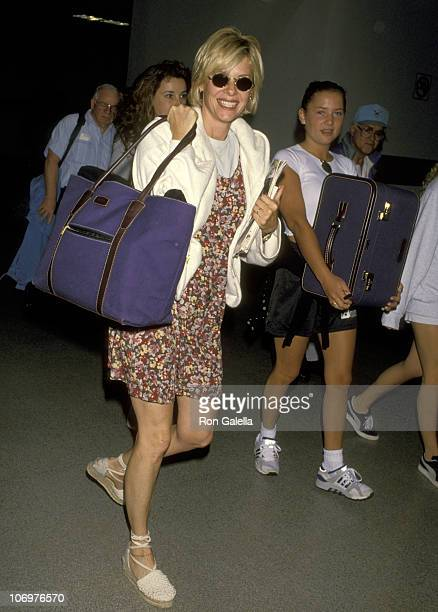 Kate Capshaw and Daughter Jessica Capshaw during Kate Capshaw and Daughter Jessica Capshaw at Los Angeles International Airport August 31 1994 at Los...
