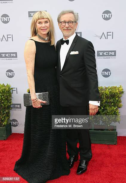 Kate Capshaw and director Steven Spielberg arrive at the American Film Institute's 44th Life Achievement Award Gala Tribute to John Williams at Dolby...