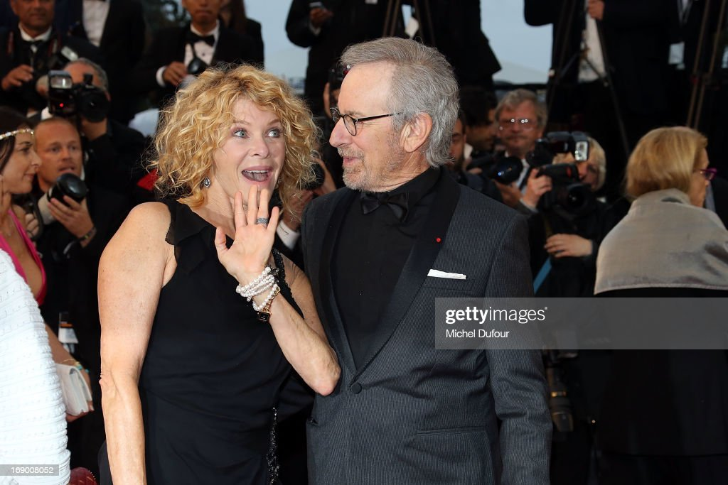 Kate Capshaw and Steven Spielberg attend 'Jimmy P ' Premiere during the 66th Annual Cannes Film Festival at Grand Theatre Lumiere on May 18 2013 in...