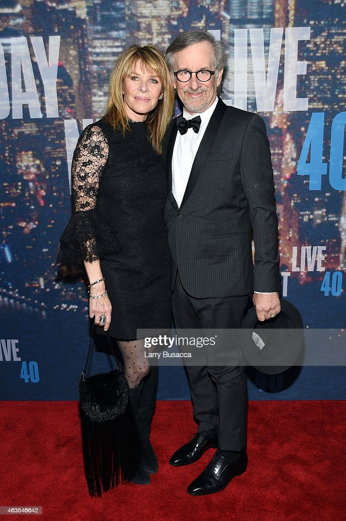 Kate Capshaw (L) and Steven Spielberg attend SNL 40th Anniversary Celebration at Rockefeller Plaza on February 15, 2015 in New York City.