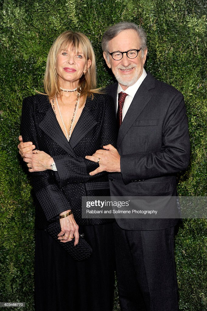Kate Capshaw and Steven Spielberg attend the 2016 Museum Of Modern Art Film Benefit presented by Chanel - A Tribute To Tom Hanks at Museum of Modern Art on November 15, 2016 in New York City.