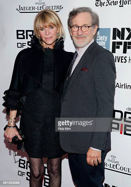 Kate Capshaw and Steven Spielberg attend the 53rd New York Film Festival 'Bridge Of Spies' Arrivals at Alice Tully Hall Lincoln Center on October 4...
