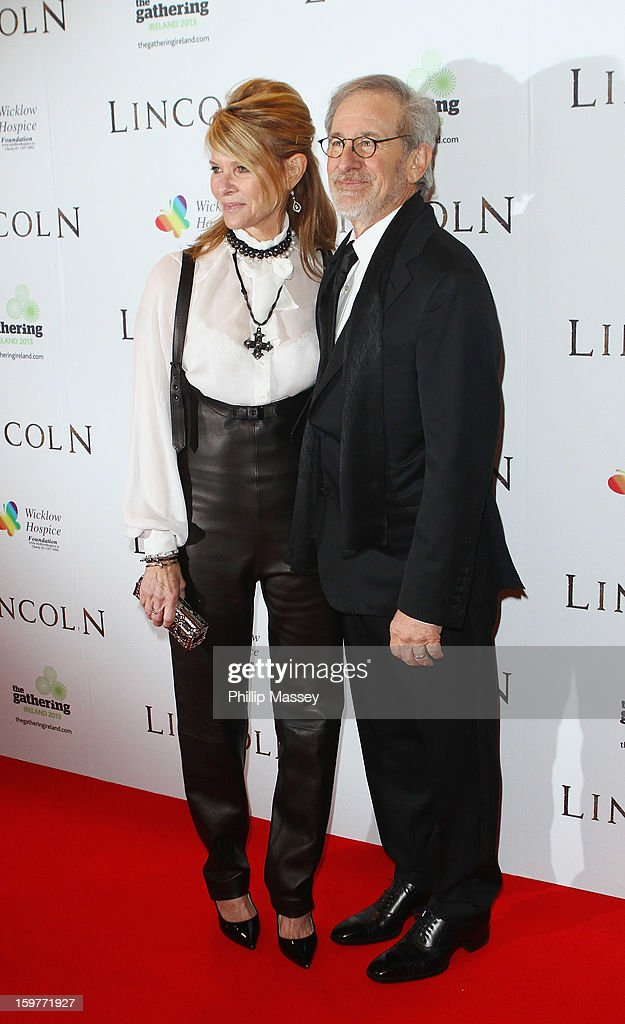 Kate Capshaw and Steven Spielberg attend the European premiere of 'Lincoln' on January 20, 2013 in Dublin, Ireland.