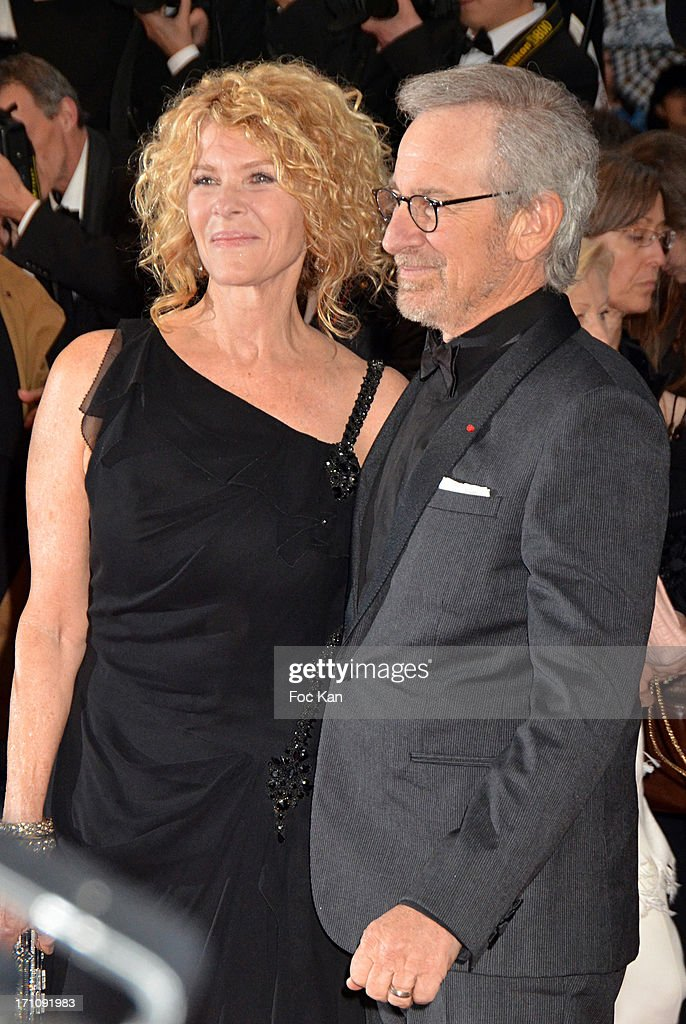 Kate Capshaw and Steven Spielberg attend the Premiere of 'Jimmy P. (Psychotherapy Of A Plains Indian)' at Palais des Festivals during The 66th Annual Cannes Film Festival on May 18, 2013 in Cannes, France.
