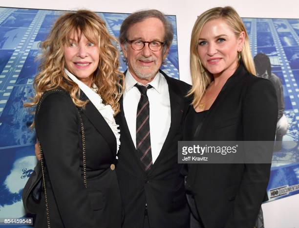 Kate Capshaw Steven Spielberg and Jessica Capshaw at HBO's 'Spielberg' Premiere at Paramount Studios on September 26 2017 in Hollywood California