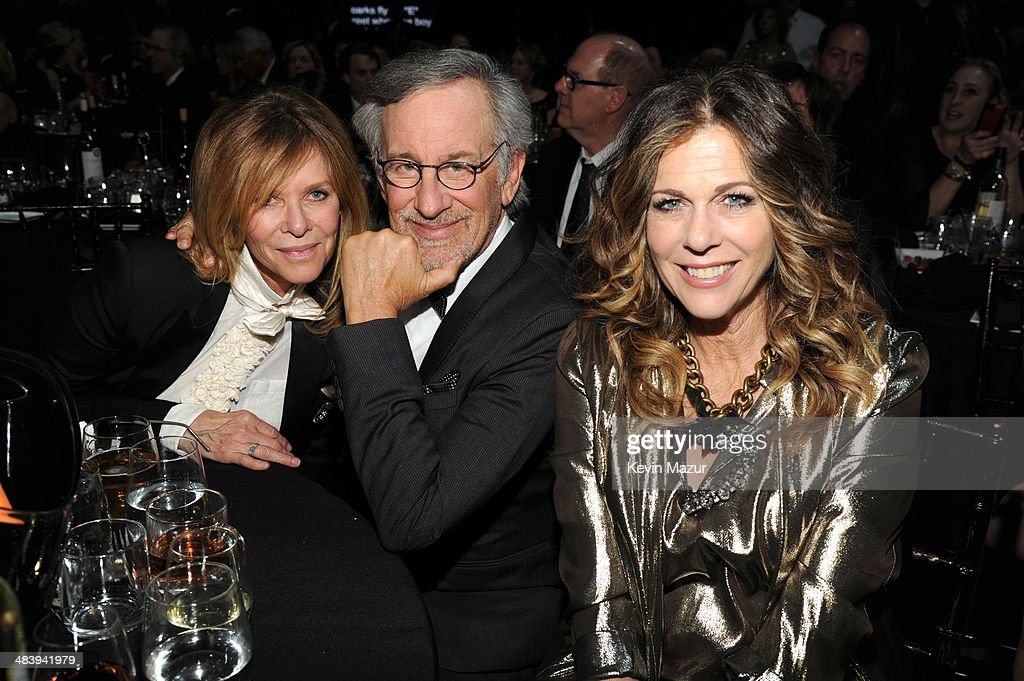 <a gi-track='captionPersonalityLinkClicked' href=/galleries/search?phrase=Kate+Capshaw&family=editorial&specificpeople=204585 ng-click='$event.stopPropagation()'>Kate Capshaw</a>, <a gi-track='captionPersonalityLinkClicked' href=/galleries/search?phrase=Steven+Spielberg&family=editorial&specificpeople=202022 ng-click='$event.stopPropagation()'>Steven Spielberg</a> and <a gi-track='captionPersonalityLinkClicked' href=/galleries/search?phrase=Rita+Wilson+-+Actress&family=editorial&specificpeople=202642 ng-click='$event.stopPropagation()'>Rita Wilson</a> attend the 29th Annual Rock And Roll Hall Of Fame Induction Ceremony at Barclays Center of Brooklyn on April 10, 2014 in New York City.