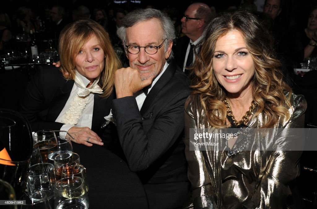Kate Capshaw Steven Spielberg and Rita Wilson attend the 29th Annual Rock And Roll Hall Of Fame Induction Ceremony at Barclays Center of Brooklyn on...