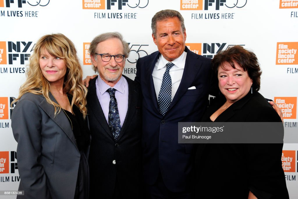 Kate Capshaw, Steven Spielberg, Richard Plepler and Susan Lacy attend the 55th New York Film Festival - 'Spielberg' at Alice Tully Hall on October 5, 2017 in New York City.