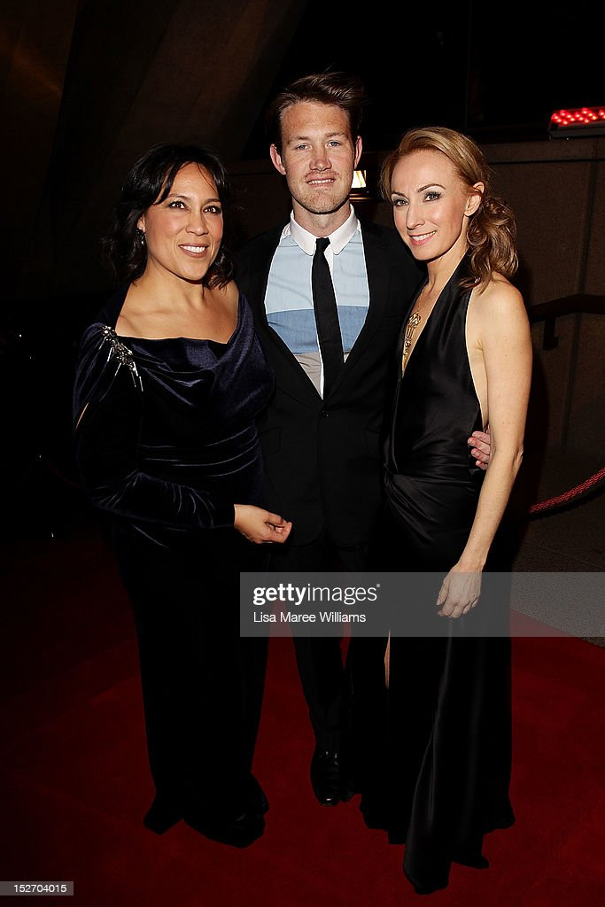 <a gi-track='captionPersonalityLinkClicked' href=/galleries/search?phrase=Kate+Ceberano&family=editorial&specificpeople=212900 ng-click='$event.stopPropagation()'>Kate Ceberano</a>, Eddie Perfect and <a gi-track='captionPersonalityLinkClicked' href=/galleries/search?phrase=Lisa+McCune&family=editorial&specificpeople=214113 ng-click='$event.stopPropagation()'>Lisa McCune</a> arrive at the 2012 Helpmann Awards at the Sydney Opera House on September 24, 2012 in Sydney, Australia.