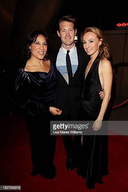 Kate Ceberano Eddie Perfect and Lisa McCune arrive at the 2012 Helpmann Awards at the Sydney Opera House on September 24 2012 in Sydney Australia