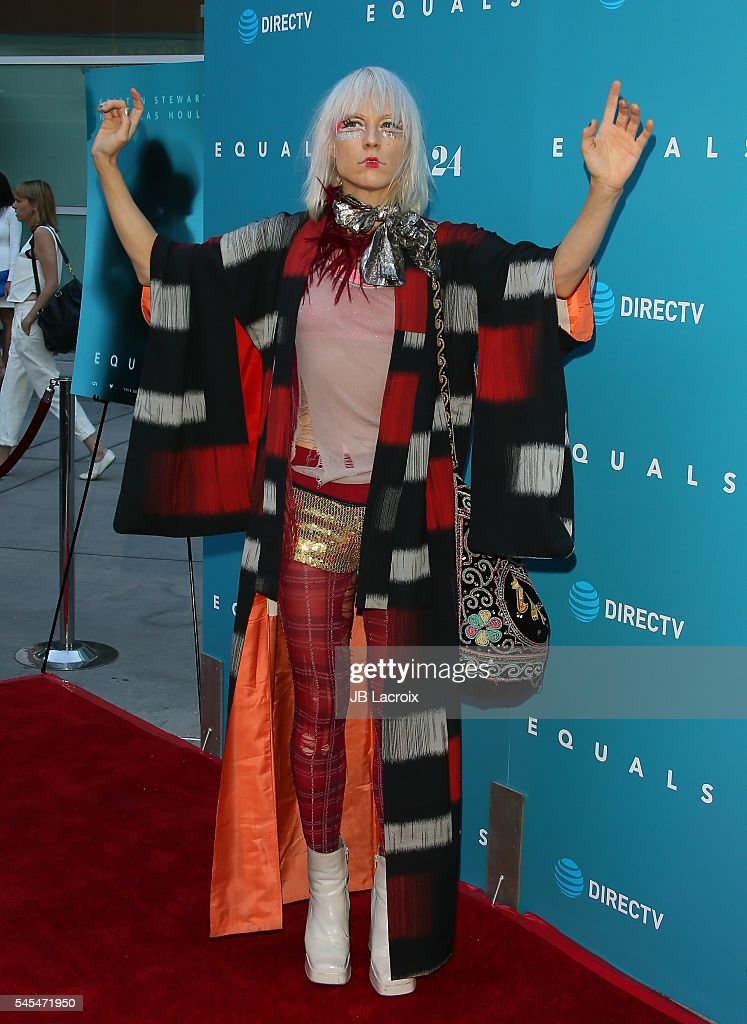 Kate Crash attends the premiere of A24's 'Equals' at ArcLight Hollywood on July 7 2016 in Hollywood California