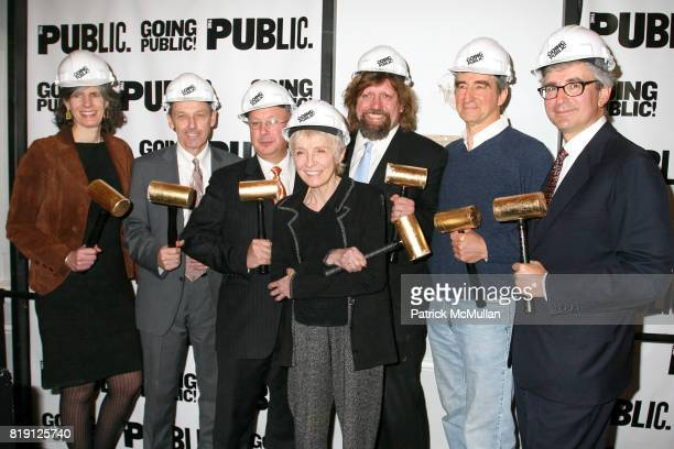 Kate D Levin Andrew D Hamingson Gail Papp Oskar Eustis Sam Waterston and Warren Spector attend THE PUBLIC THEATRE Kicks Off Building Renovations and...
