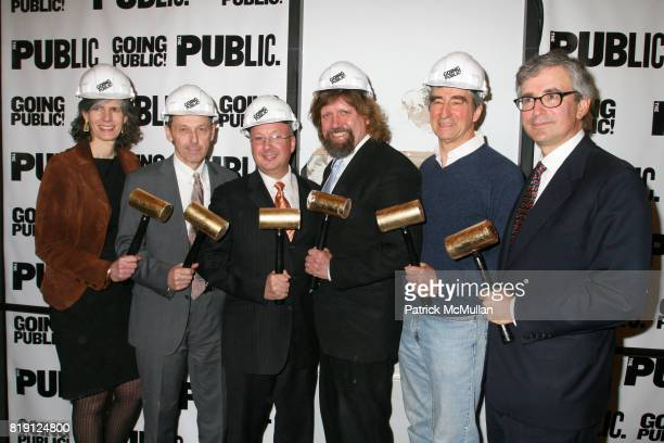 Kate D Levin Andrew D Hamingson Oskar Eustis Sam Waterston and Warren Spector attend THE PUBLIC THEATRE Kicks Off Building Renovations and Launches...
