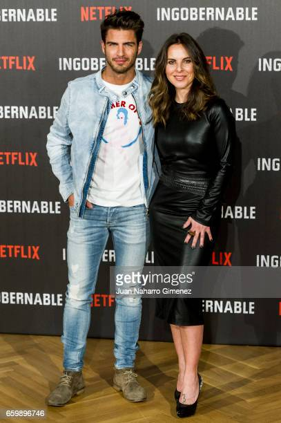 Kate del Castillo and Maxi Iglesias attend 'Ingobernable' photocall at Ritz Hotel on March 29 2017 in Madrid Spain