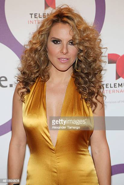Kate del Castillo arrives at Telemundo International Welcome Party during NATPE 2015 at Adrienne Arsht Center on January 20 2015 in Miami Florida