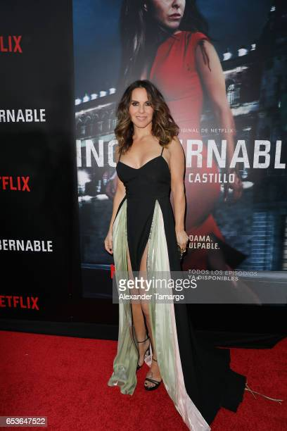 Kate del Castillo arrives at the Netflix Ingobernable S1 Premiere Miami Screening 2017 on March 15 2017 in Miami Beach Florida
