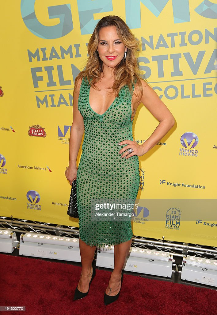 Kate del Castillo arrives at the screening of film 'The 33' at Tower Theatre on October 26 2015 in Miami Florida