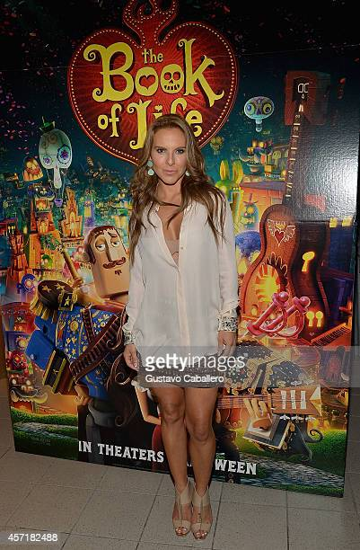 Kate del Castillo attends 'THE BOOK OF LIFE' Red Carpet at Regal South Beach 18 on October 13 2014 in Miami Florida