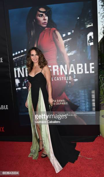 Kate Del Castillo attends the Premiere Of Netflix's 'Ingobernable' Arrivals at Colony Theater on March 15 2017 in Miami Beach Florida