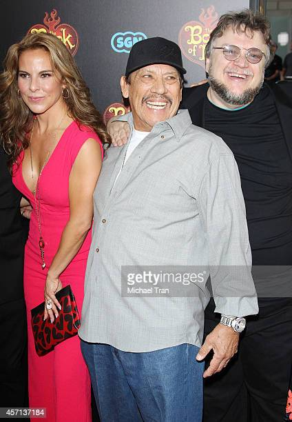 Kate del Castillo Danny Trejo and Guillermo del Toro arrive at the Los Angeles premiere of 'Book Of Life' held at Regal Cinemas LA Live on October 12...